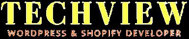 Techview Logo WordPress and Shopify Developer